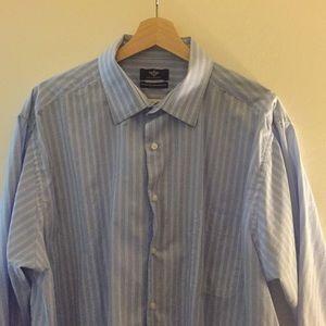 Blue striped Dockers dress shirt